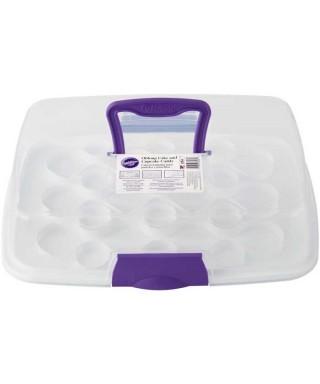 Boîte à gâteau de forme rectangulaire réutilisable Wilton