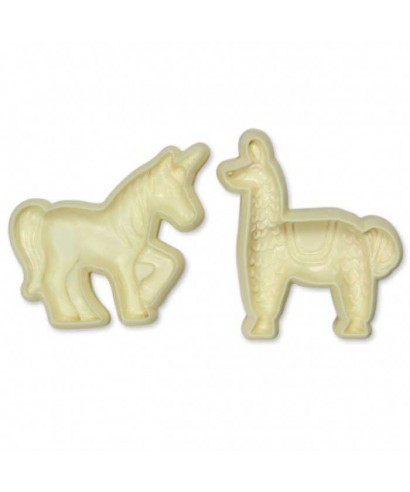 Emporte-piéce Pop It Lama et Licorne Set/2 JEM