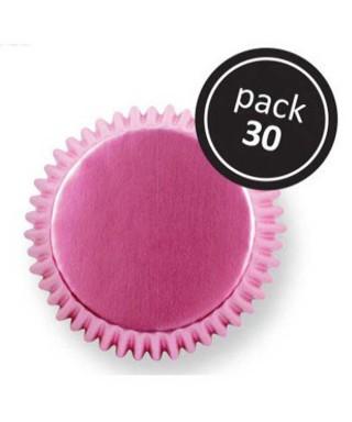 Caissette cupcake Rose métallique pk/30 Pme