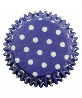 Caissette cupcake Bleu à pois blancs pk/60 Pme