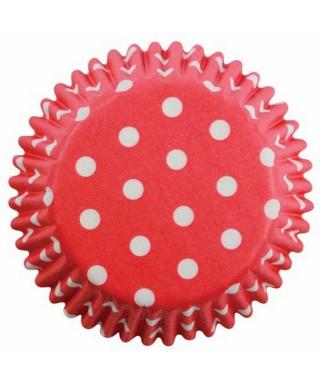 Caissette cupcake Rouge à pois blancs pk/60 Pme