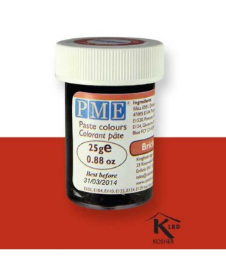 Colorant alimentaire en gel Brique Rouge PME