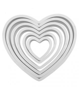 emporte-pièces Coeur set/6 PME