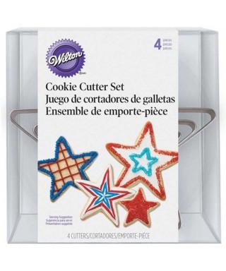 Emporte-pièces métal étoile set/4 Wilton