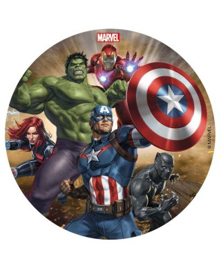 Disque Black Widow, Black Panther, Hulk Iron Man et Captain America Avengers