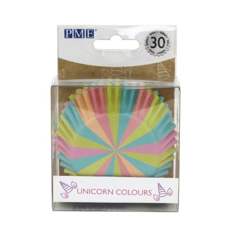 Caissette cupcake aluminium couleur licorne PME