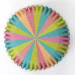 Caissette cupcake aluminium couleur licorne pk/30 PME