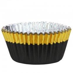 Caissette cupcake Or et noir métallique pk/30 PME