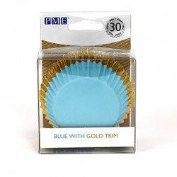 Caissette cupcake Or et bleu métallique pk/30 PME