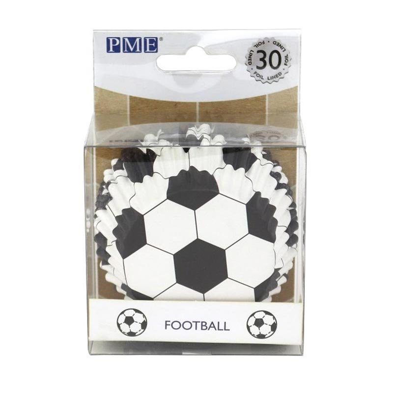Caissette cupcake Football métallique PME