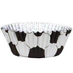 Caissette cupcake Football métallique pk/30 PME