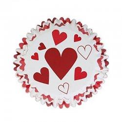 Caissette cupcake Coeur métallique PME
