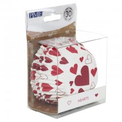 Caissette cupcake Coeur métallique