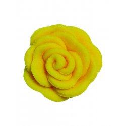 Petites roses en sucre jaune set/12 PME