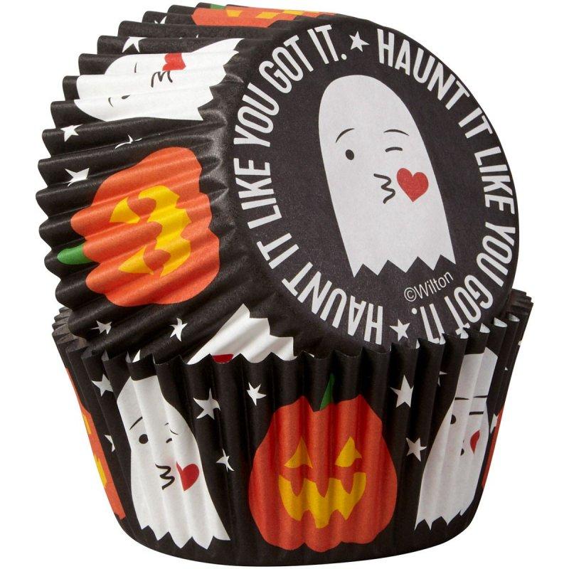 Caissettes cupcake Fantôme & Citrouille  Wilton
