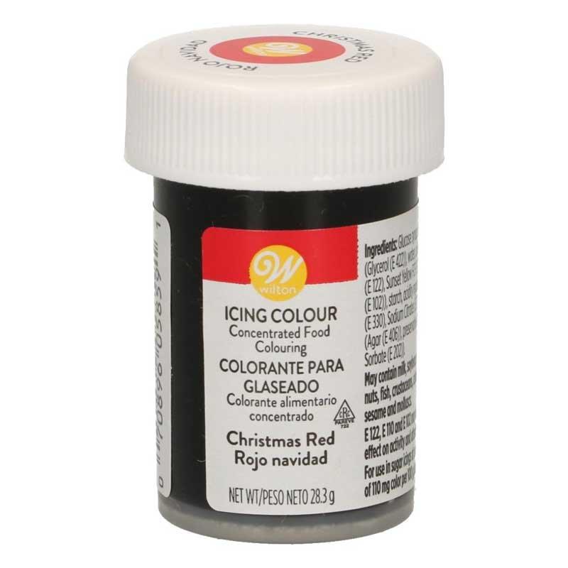 Colorant alimentaire en gel Rouge de Noël Wilton