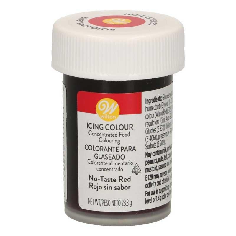 Colorant alimentaire en gel rouge sans gout Wilton