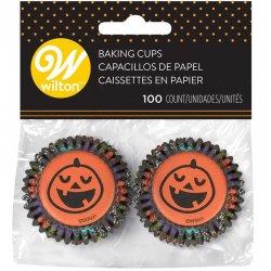 Mini Caissettes Halloween Citrouille pk/100 Wilton