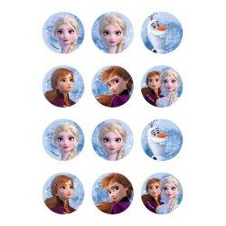Mini disques à cupcake Elsa et Anna la reine des neiges 2 Disney