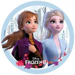 Disque pâte à sucre la reine des neiges 2 Disney