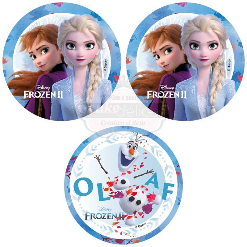 Disque Azyme Elsa La Reine des Neiges 2 Disney