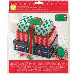 Boîte à Gâteau de Noël avec Rubans Wilton