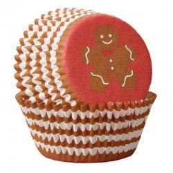 Caissettes à cupcakes bonhomme en pain d'épice