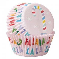 Caissettes à cupcakes sucre d'orge pk/75 Wilton