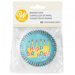 Caissettes à cupcakes Happy Birthday Wilton