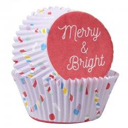 Caissettes à cupcakes Merry & Bright pk/75 Wilton