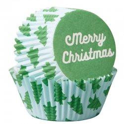 Caissettes à cupcakes Merry Christmas pk/75 Wilton