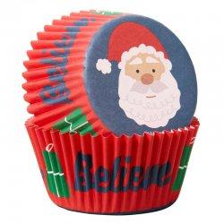 Caissettes à cupcakes Père Noël pk/75 Wilton