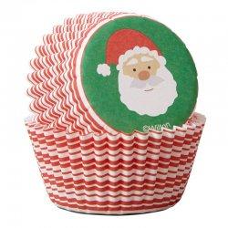 Mini caissettes à cupcakes Père Noël pk/100 Wilton
