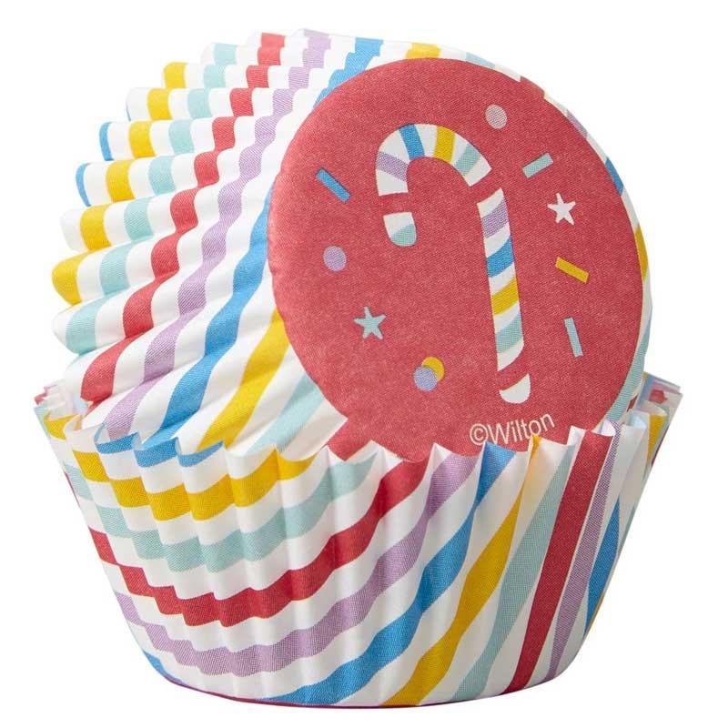 Mini caissettes à cupcakes Sucre d'orge pk/100 Wilton