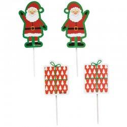 Toppers à cupcakes ou à buche de Noël pk/12 Wilton