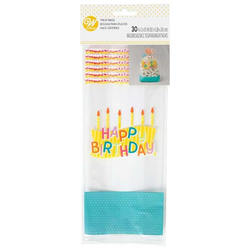 Sachets à Confiserie Happy Birthday pk/30 Wilton