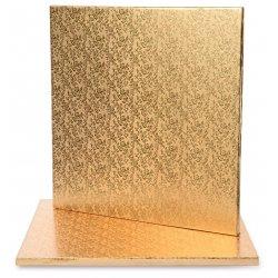 Plateau de présentation Or carré épais  30 x 30 cm