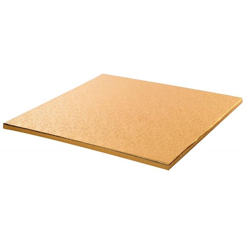 Plateau de présentation Or carré épais  35 x 35 cm