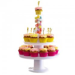 Présentoir à gâteaux avec boîte surprise