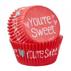 Caissettes Saint-Valentin You're Sweet pk/75 Wilton