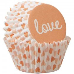 Mini Caissettes love St Valentin pk/100 Wilton