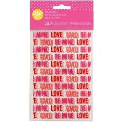 Sachets à friandises Love St Valentin pk/20 Wilton