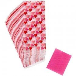 Sachets à friandises coeur St Valentin pk/20 Wilton