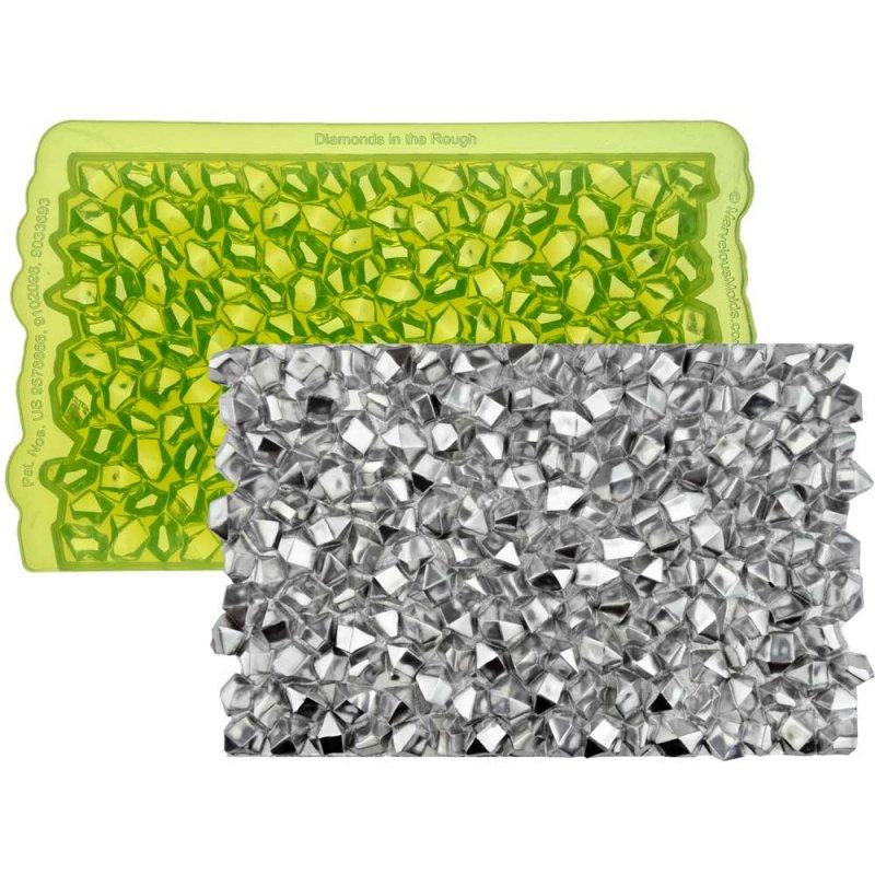 Tapis de texture silicone Diamants à l'état brut Marvelous Molds