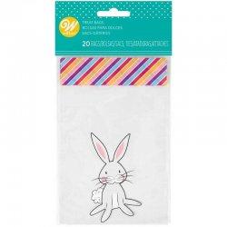 Mini sacs à friandises Bunny pk/20 Wilton
