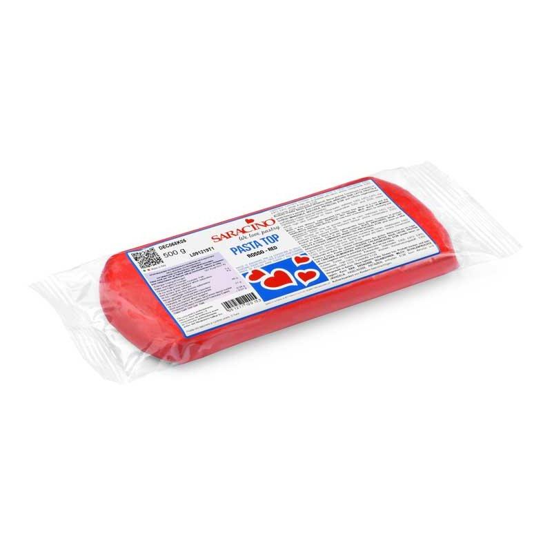 Pâte à sucre Rouge TOP 500gr Saracino