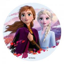 Disque azyme la reine des neiges 2 Anna et Elsa Disney