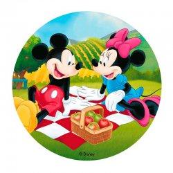 Disque azyme Mickey et Minnie au piquenique Disney