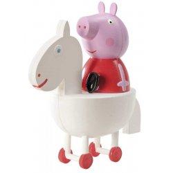 Figurine Peppa Pig sur son cheval blanc