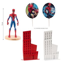 Kit Figurine Spiderman 3D en PVC Marvel